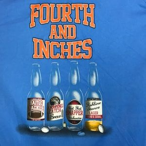 Fourth and Inches Beer Bottle Fish Themed Shirt